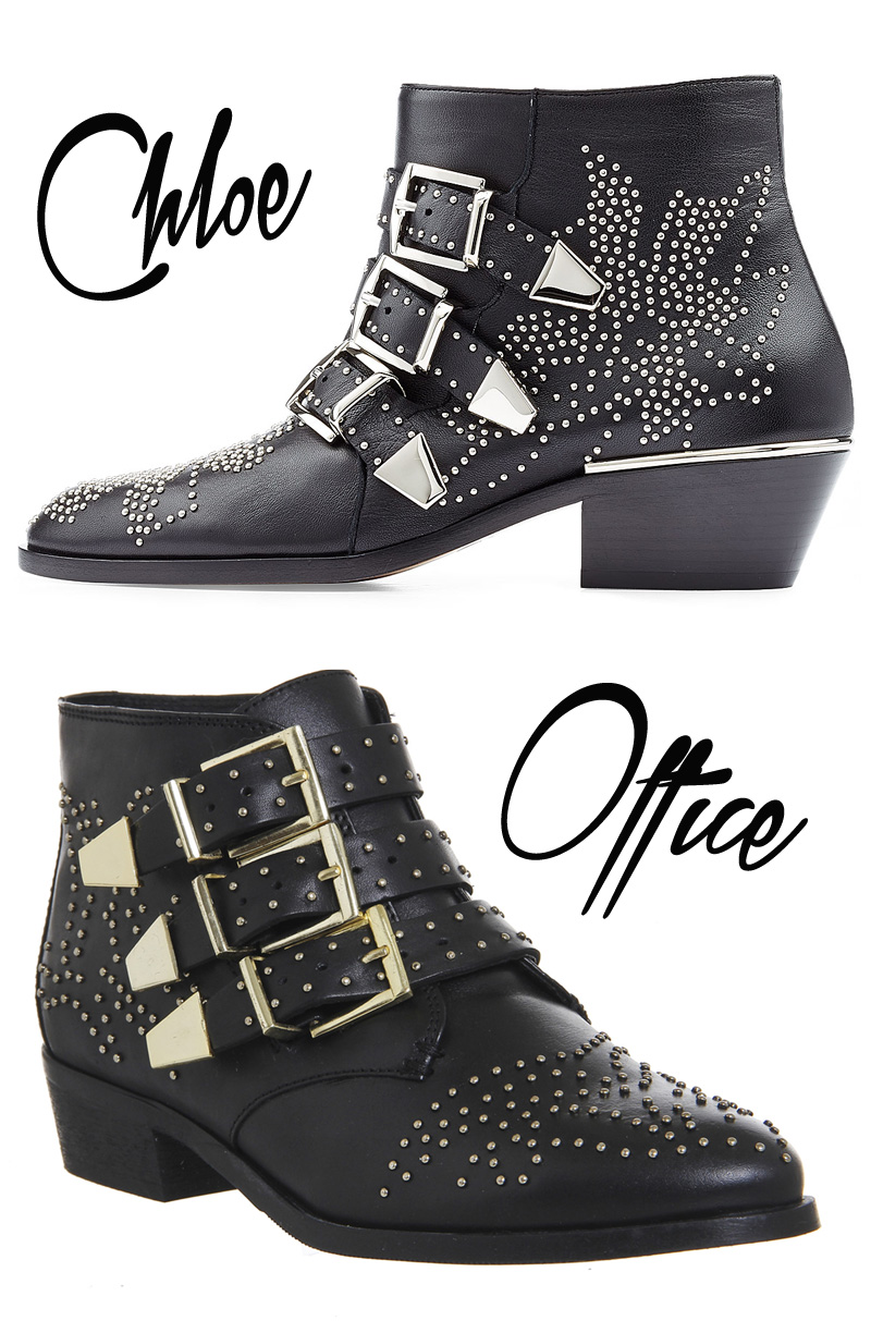 studded ankle boots by Chloe and Office