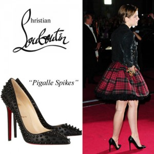 Cheap Christian Louboutin Pigalle Spiked Pumps Black Leather 120mm