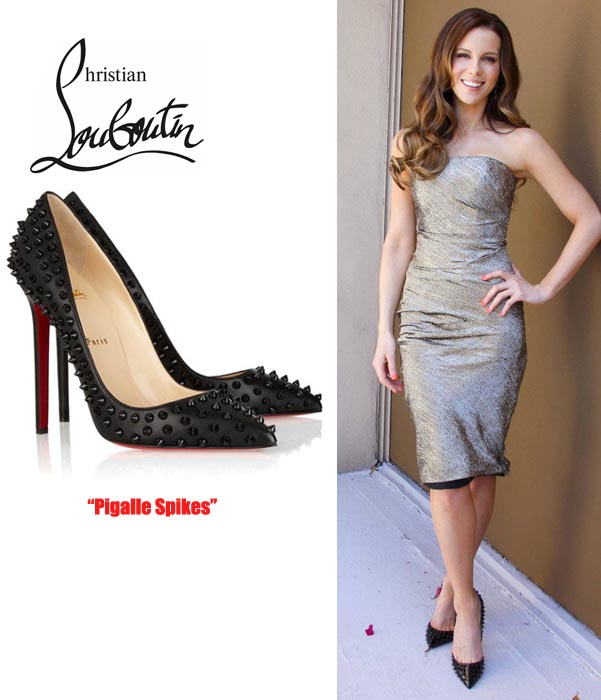 Cheap Christian Louboutin Pigalle Spiked Pumps Black Leather 120mm ...