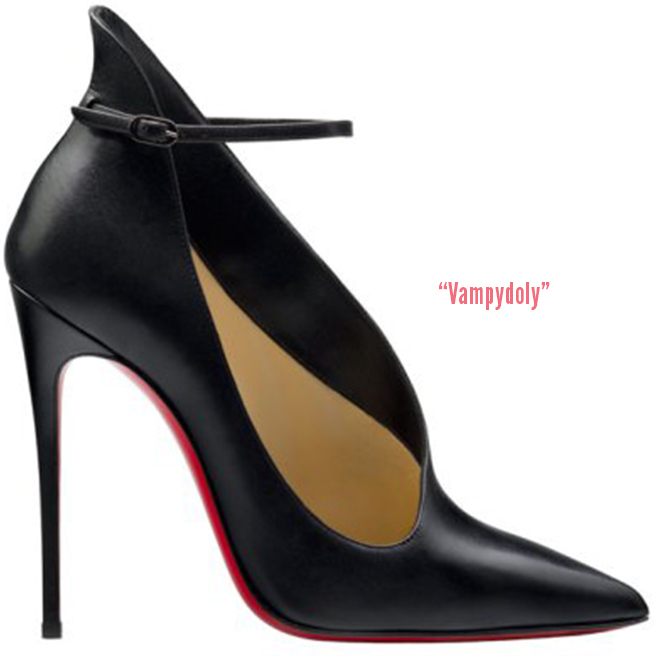 christian louboutin pointed-toe ankle booties Black patent leather ...