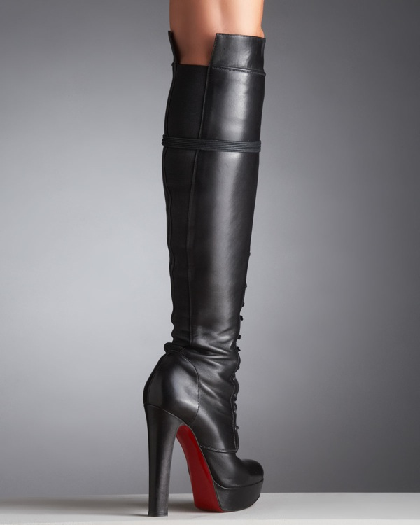 christian louboutin over the knee boots replica