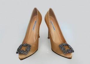 Wear Manolo Blahnik Hangisi Pumps to Attend Your Party
