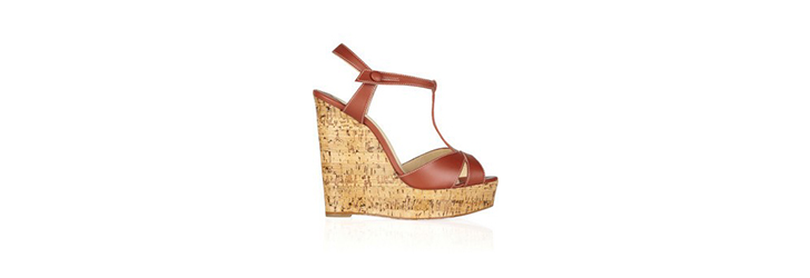 Cheap Christian Louboutin Leather Wedge Sandal Introduce